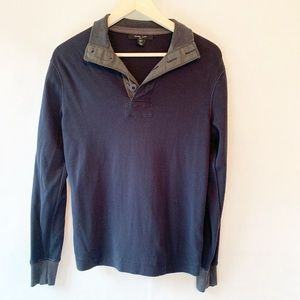 Mark Law Mens Sweater Blue Long Sleeve Pullover Sm